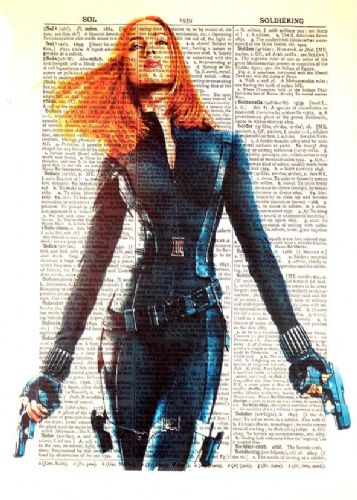 2010's Movie - AVENGERS - BLACK WIDOW NEWS - canvas print - self adhesive poster - photo print